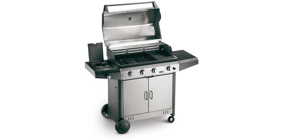 Barbecue a gas con coperchio in acciaio inox mod lucy top for Camini a gas palazzetti