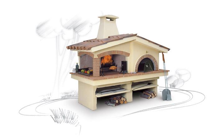 Barbecue a legna con forno mod eden focolare - Barbecue a legna da esterno ...