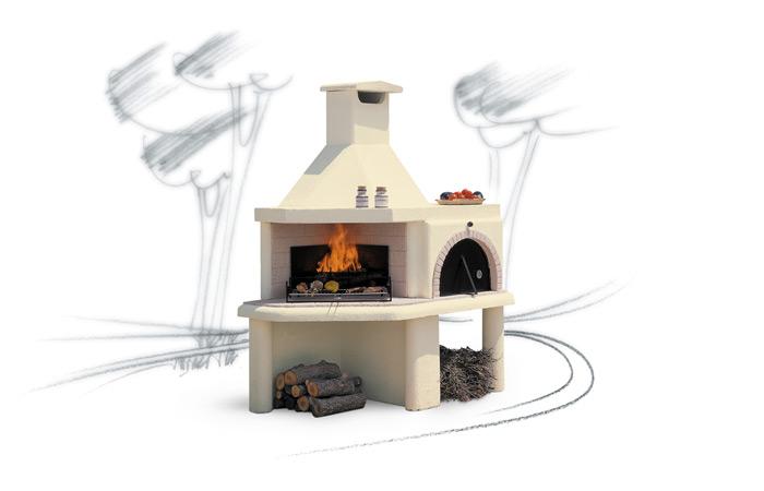Barbecue a legna mod nuraghe focolare - Forni a legna per esterno in muratura ...