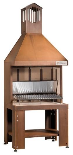 Barbecue a legna mod vcktc vulcano for Acciaio corten prezzo al kg
