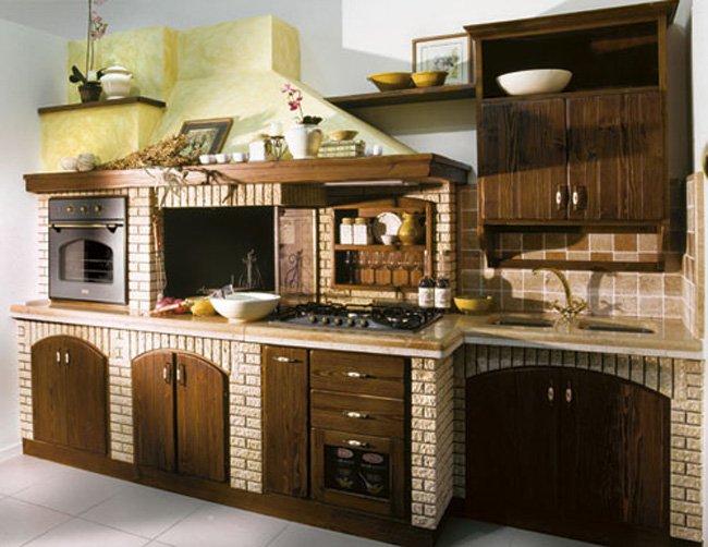 Cucina in muratura modello taverna grilli - Cucine per tavernette ...